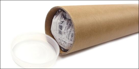 紙管での梱包方法